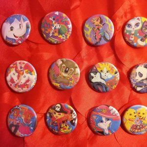 Lisa Frank Button Collection #1 - 15 Buttons